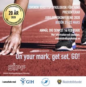 SIPFs jubileumskonferens 2020 på Bosön i stockholm. Tema idrottspsykologi